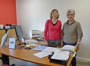 Lucile Calleau, responsable du CCAS et Marcelle Traineau, adjointe aux affaires sociales